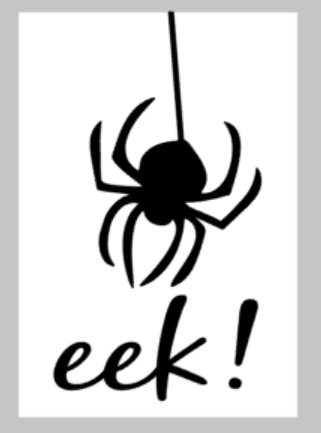 Halloween Tiles - Eek with spider
