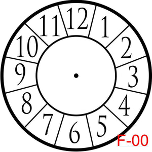 Clock - Numbers with border  (F-00)