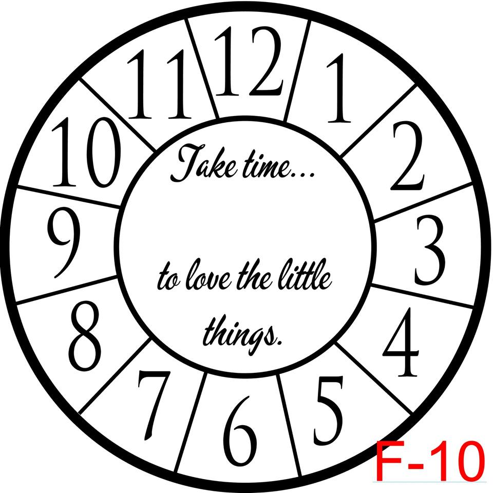 Clock - Numbers with border insert take time to love the little things (F-10)