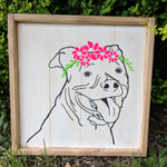 Pet Portrait - Head with flower head piece