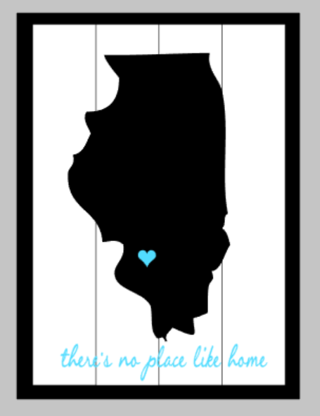 3D Illinois - there's no place like home with heart