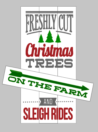 Farmers market and freshly cut Christmas trees Reversible