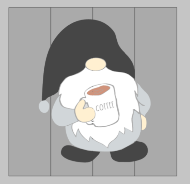 Gnome with coffee