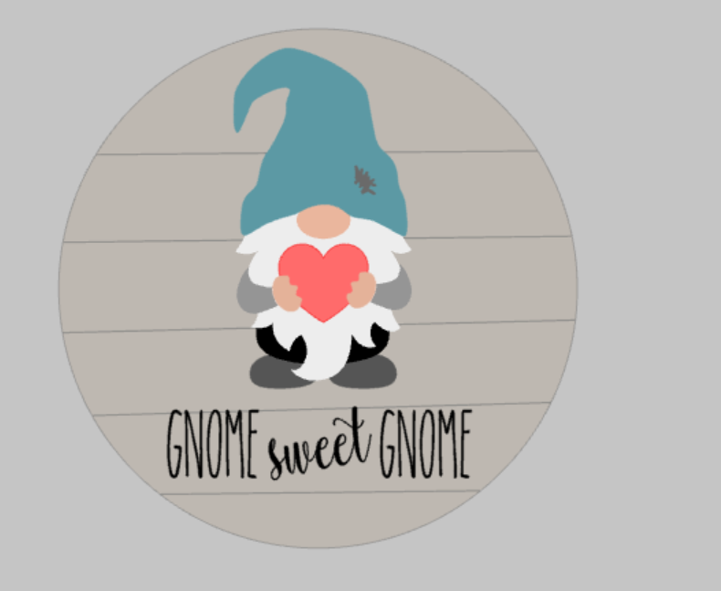 3D Seasnonal Interchangeable Gnome - Gnome sweet gnome Door hanger