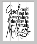 God could not be everywhere therefore he made mothers