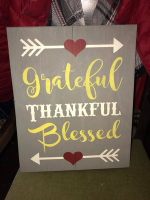 Grateful Thankful Blessed-Heart Arrow