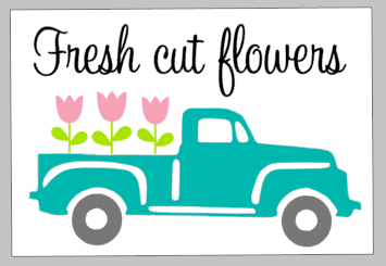 Spring Tiles - Fresh cut flowers truck
