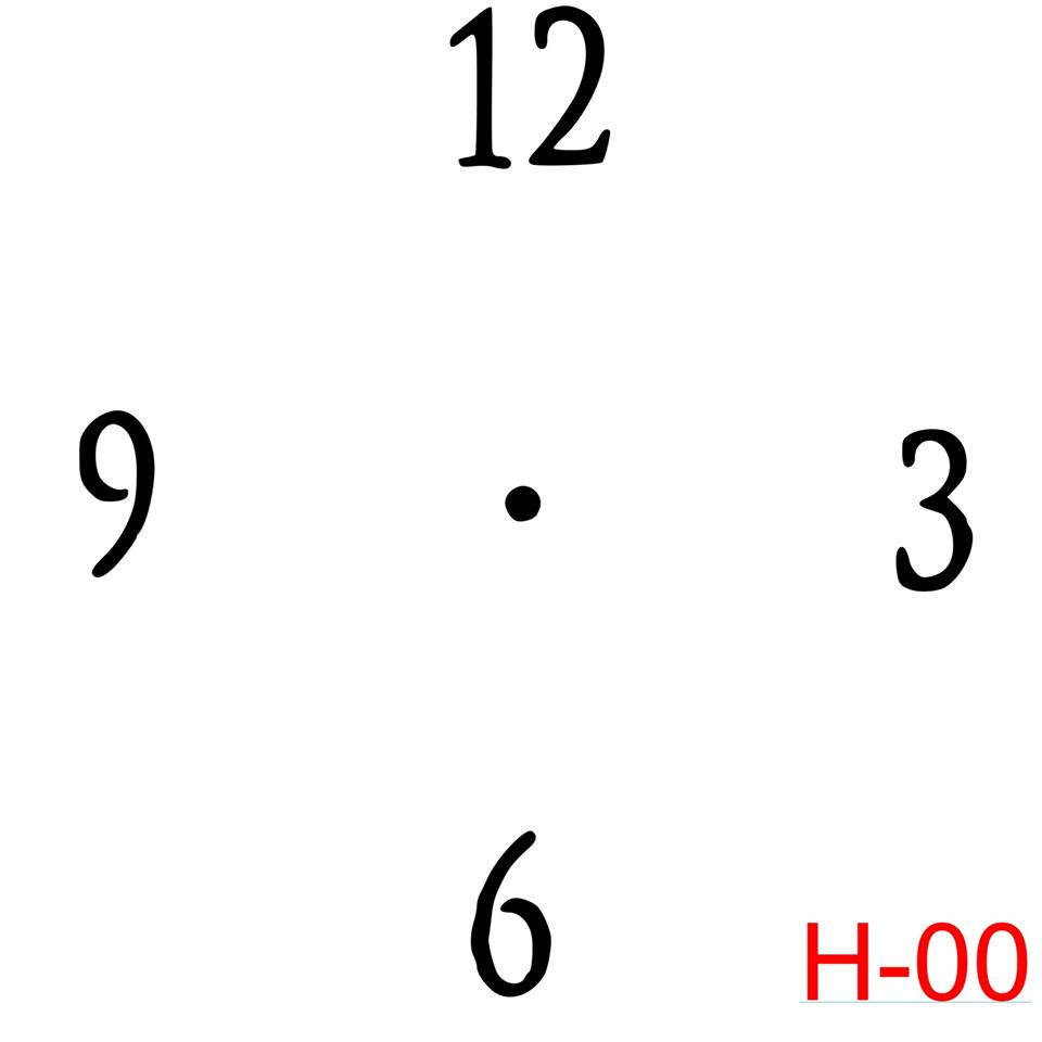 Clock - Numbers 12, 3, 6, 9 (H-00)