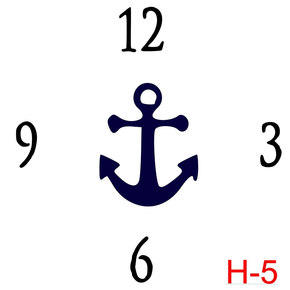 Clock - Numbers 12, 3, 6, 9 insert anchor (H-5)