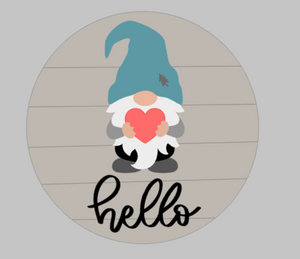 3D Seasnonal Interchangeable Gnome Hello Door hanger