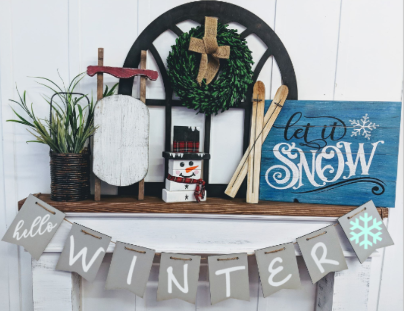 Banner - Hello winter with snowflake
