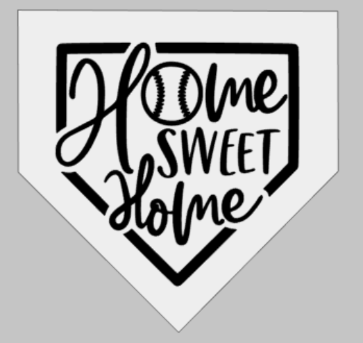 Home sweet home with baseball-home plate