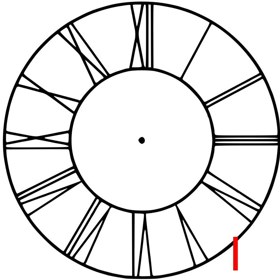 Clock - Roman numerals with border (I-00)