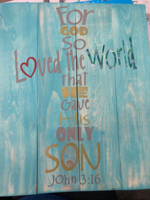 For god so loved the world-cross