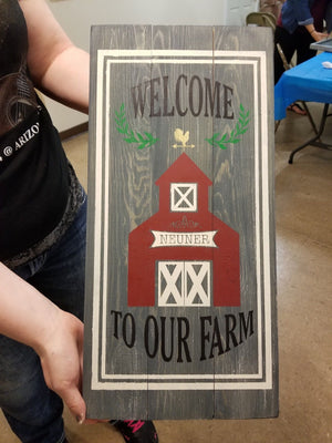Welcome to our farm-last name