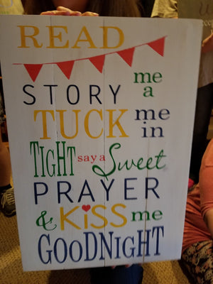 Read me a story tuck me in at night