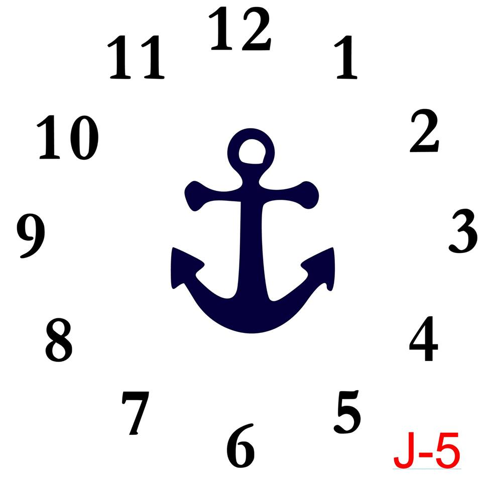 Clock - Numbers insert anchor (J-5)