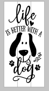 ab94fa265e Life is better with a dog Woof – Mommy s Design Farm