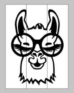 Llama with glasses