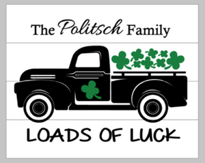 Loads of Luck truck with family name