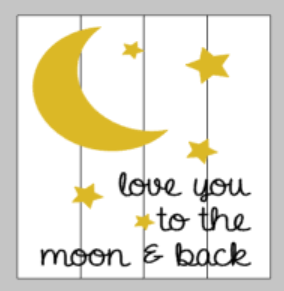 String Art  - love you to the moon and back