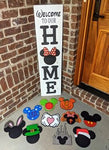 3D Seasonal Interchangeable Mickey Welcome to our Home Porch