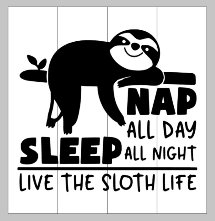 Nap all day sleep all night Live the sloth life