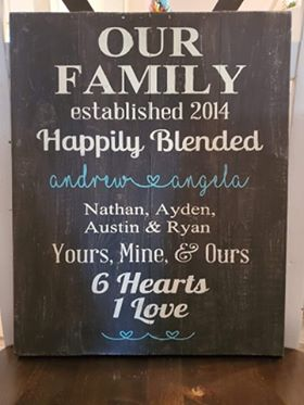 Our famiy Happily Blended with names