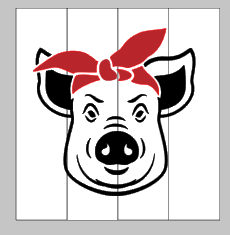 Pig with bandanna