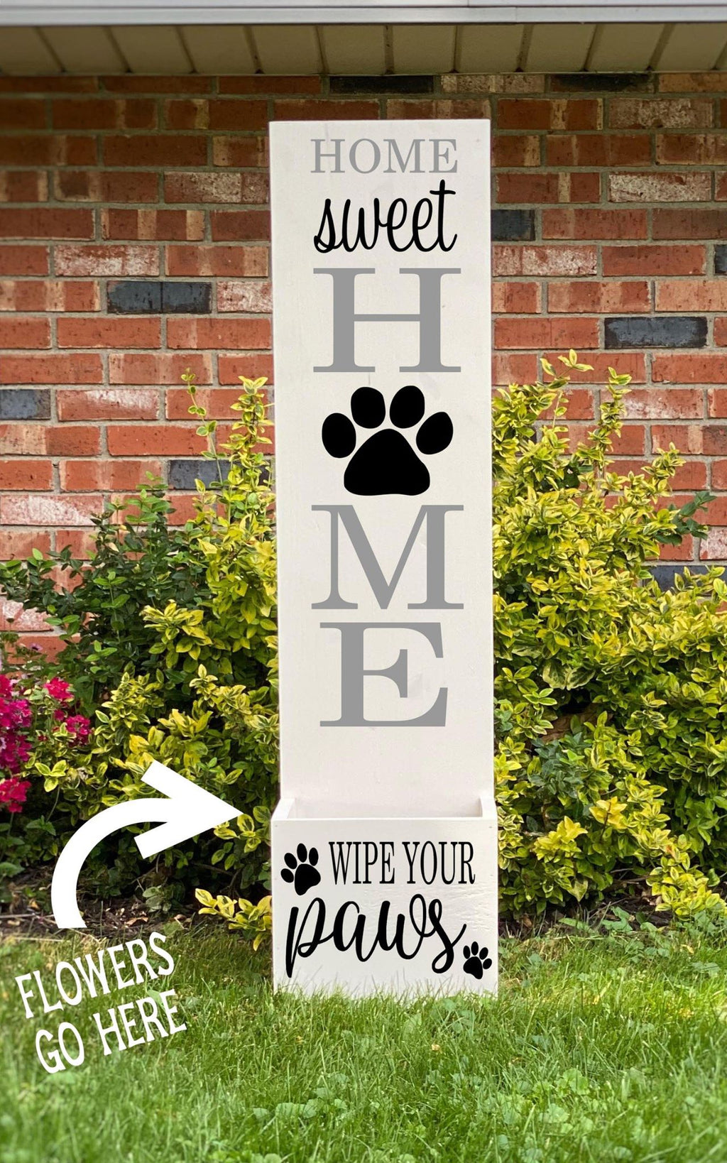 Porch Planter - Home sweet Home - Wipe your paws