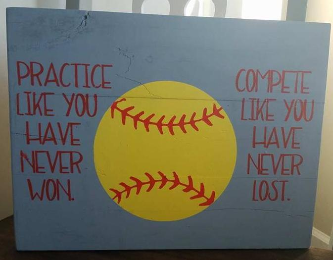 Practice like you have never won with baseball