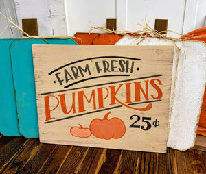 Farm Fresh pumpkins 25 cents