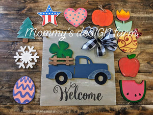 3D Seasonal interchangeable Truck Door Hanger