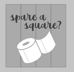 Spare a square with toilet paper roll