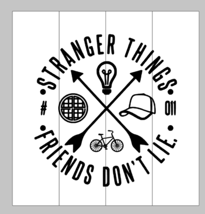 Stranger things - Friends don't lie round design