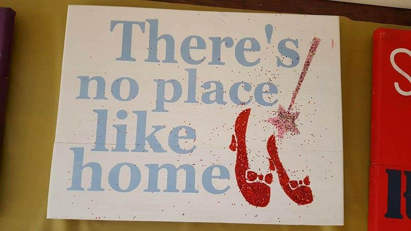 There's no place like home-ruby slippers