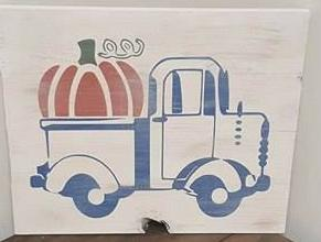 Truck with pumpkin
