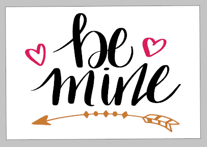 Valentines Day Tiles - Be Mine