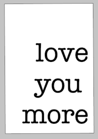Valentines Day Tiles - Love you more