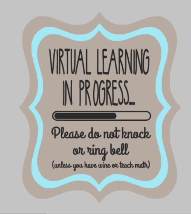 Door hanger - Virtual Learning in Progress