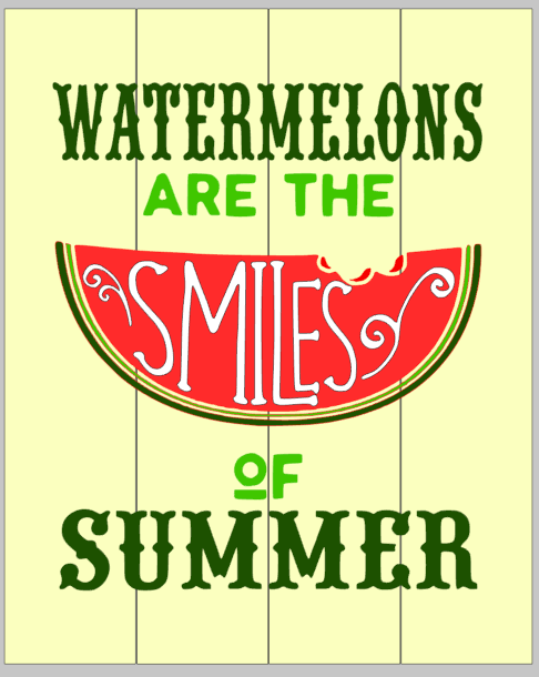 Watermelons are the smiles of summer