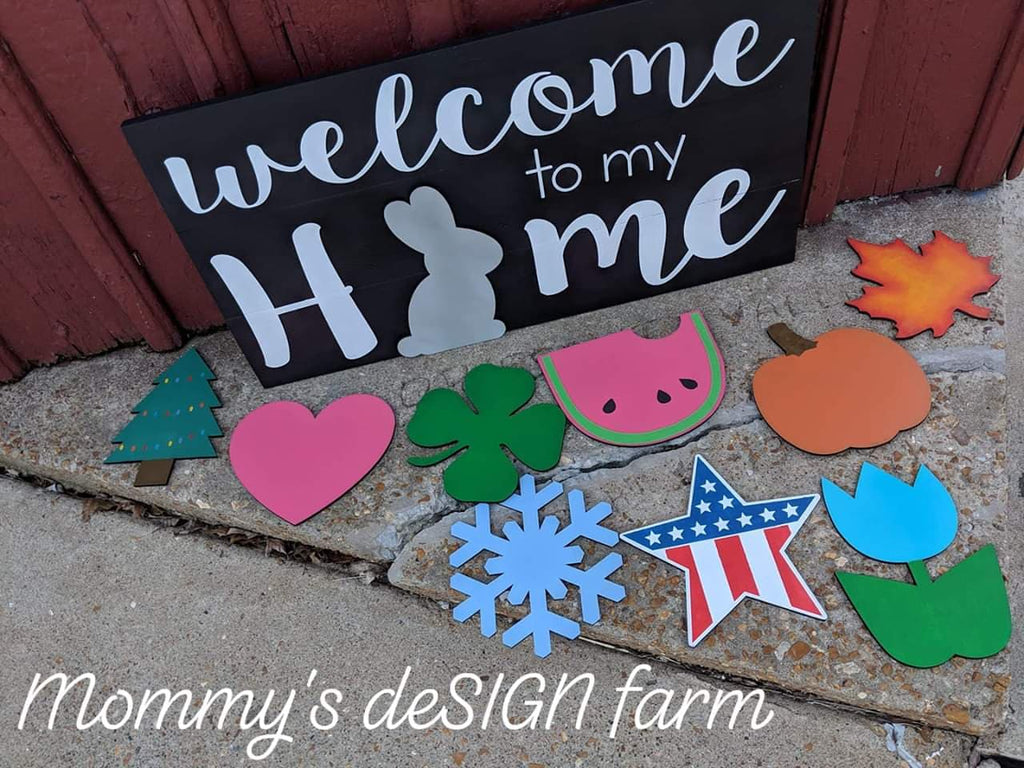3D interchangeable welcome to my home