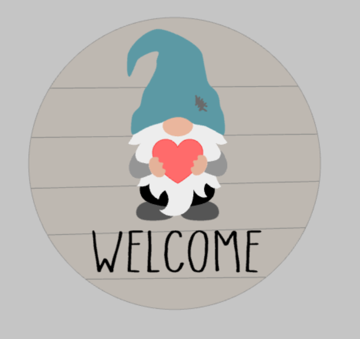 3D Seasnonal Interchangeable Gnome Welcome Door hanger