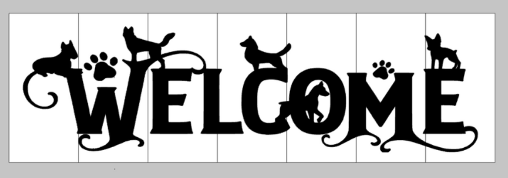 Welcome with dogs
