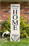Porch Planter - Welcome with Family last name and address