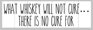 What whiskey will not cure...there is no cure for