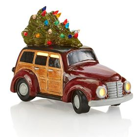 Ceramic Woody wagon with tree