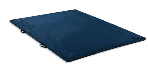 Exercise Mat 2 Thick Navy W/Handles Non-Folding 4' X 6'