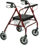 Heavy Duty Bariatric Rollator Walker with Large Padded Seat - Accord Medical Supply