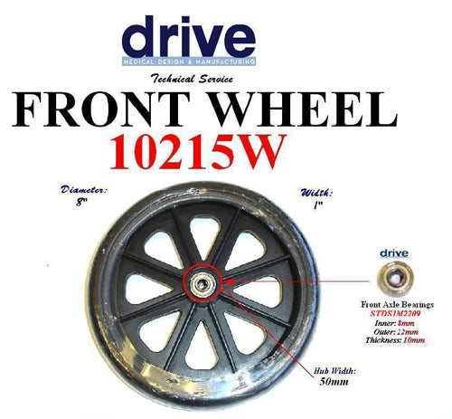 Wheel for 11053 Rollators and 10968 Wheelchairs